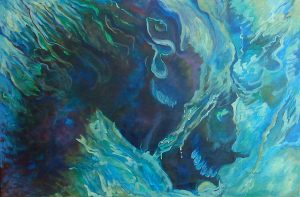 "Riding the Stallion 2010 36""x24"""