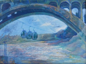 "Under the Bridge Some Play 24""x18"""